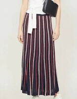 NWT Sandro Maxi Sporty Striped Ribbed Skirt. Size 4 (sandro 1). Offers Welcomed!