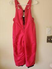Cherokee Insulated Pink Snow Bibs Girls Size S 6/6x