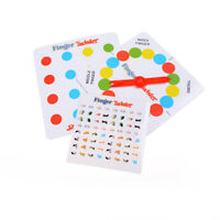 Finger Twister Board Game Mini Version Table Party Games Funny Gift 5HUK