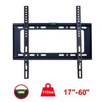 "Universal 17-60"" TV Wall Mount Bracket for 27 32 37 40 42 46 50 52 55 60"" Screen"