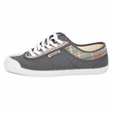 Kawasaki scarpe sneakers canvas DEV 13 deveaux hot shot koks green grigio verde