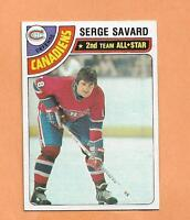 SERGE SAVARD TOPPS 1978-79 CARD # 190 CANADIANS