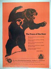 Gray Manufacturing PRINT AD - 1953 ~~ Soviet Russian bear, Rudyard Kipling poem