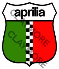 Aprillia car Motorcycle sticker Italy Italian bike biker checkered flag