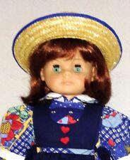 "Engel-Puppe German 20"" Collector Auburn Blue Eyes Doll Wearing Blue Clothes"