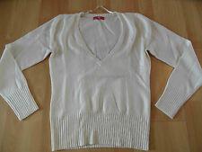 EDC by ESPRIT schöner V-Ausschnitt Pullover creme Gr. L TOP SH416