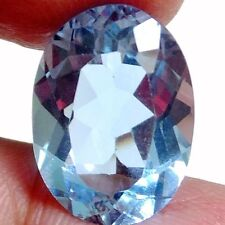 NATURAL TOP SWISS BLUE TOPAZ LOOSE GEMSTONE  (18 x 13.2 mm) LARGE OVAL CUT
