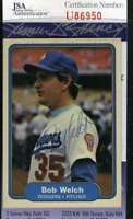 Bob Welch 1982 Fleer Jsa Certed Autograph Authentic Hand Signed