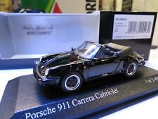 1/43 Minichamps Porsche 911 Carrera Cabriolet 1983 Black diecast KB