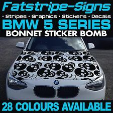 BMW 5 SERIES GRAPHICS STICKER BOMB BONNET DECALS STICKERS STRIPES M5 E60 SKULL