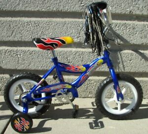 "NEW 12"" BOY'S BIKE BLUE EVA TIRES TRAINING WHEELS 3 TO 5 YEARS OLD KIDS!"