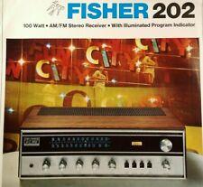 Fisher 202 Stereo Receiver Sales Brochure Original 1971 Rare VHTF Radio Fun City