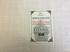 REPLICA TITANIC BOARDING PASS FOR THE ARTIFACT EXHIBITION