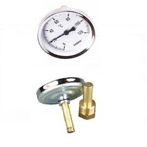 "Bimetall-Thermometer mit Tauchhülse 1/4 "" bis 1/2"""