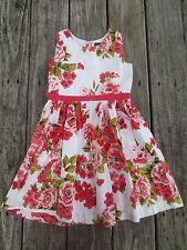 Mini Boden ~ Girls Floral Spring Dress ~ Size 5-6Y