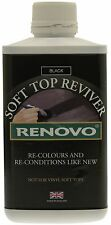 NEW 500ml Renovo Black Soft Top Reviver X1 Re-Colours & Conditions Car Roof