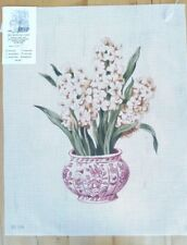 Vase with Hyacinth HP Needlepoint canvas
