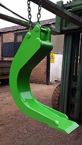 Excavator clay spade to fit 1.5t 2.7t digger. double skinned inc pins and vat