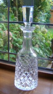 BEAUTIFUL WATERFORD HAND CUT CRYSTAL GLASS DECANTER ALANA CUT 34CM TALL PERFECT.