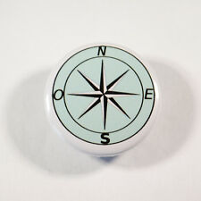 """RETRO COMPASS EXPLORER Badge/Button GIFT with METAL PIN ( Size is 1"""" / 25mm)"""