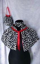 cruella de ville shawl 101 dalmatian shoulder cape bag chocker book day set Red