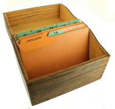 ANTIQUE DECO WOODEN OAK SINGLE FILE BOX OFFICE DESK CASE DOVETAILED 6 1/2""
