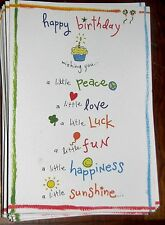 "Blue Mountain Arts Birthday Greeting Card ""Wishing You Love Luck Fun"" B2GO SALE"