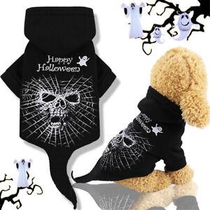 Halloween Skeleton Skull Costumes Pet Dog Hoodies Puppy Cosplay Apparel Clothing