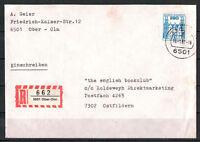 BRD, Einschreiben MiNr. 1142 EF TSt Ober-Olm 16.01.1987