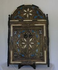"""23x16""""Moroccan arched mirror with white camel bone."""