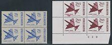 ARGENTINIEN 1967 78 P 1974 2.65 P Flp.-Ausgabe postfrische Viererblöcke ABARTEN