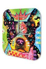 Wall Clock Dog Decoration French Bulldog Printed Acryl Acrylglass