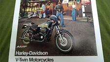 Harley 1977 Willie G Cafe Racer XLCR Superglide Tour FLH Dealer sales brochure