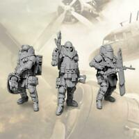 1/35 Set 3 pcs Heavily Armored Soldier of the Future Resin Scale Model Kit Top