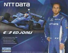 2018 Ed Jones NTT Data Honda Dallara Indy Car postcard