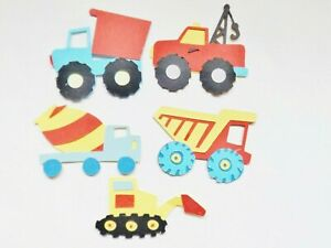 Trucks Lorry Transport Papercraft Embellishments Scrapbooking Card Making Crafts