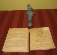 ANTIQUE MAGIC CIGARS AND FIGURAL MAN WITH TUXEDO & TOP HAT HOLDER POFFY MAGISCHE