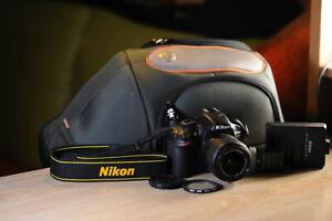 Nikon D3200 DSLR Camera 18-55mm VR II Lens+ 2 BATTERIES+BAG+FILTER+16GB MEMORY!$