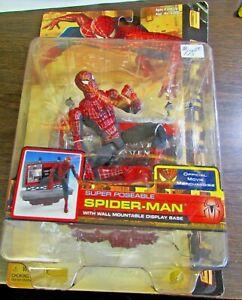 2004 SPIDER-MAN 2 - SPIDER-MAN SUPER POSEABLE ACTION FIGURE - TOY BIZ UNOPENED 3