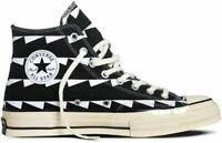 CONVERSE mens womens adults trainers shoes  7 7.5 8 8.5 hi tops 70 black white