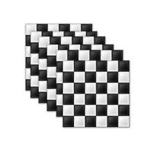 6 Pcs Self-adhesive Mosaic PVC Checkered Wall Sticker Kitchen Decal Decor