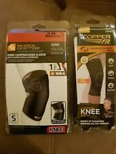 Shock Doctor Knee Compression Sleeve Level 1 Size S 864 & Copper Fit Size Large