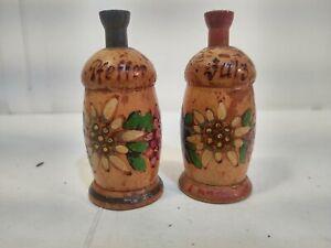 Vintage Wooden Marke Herold Munchen Salt And Pepper Shaker Set sp62