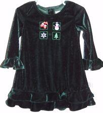 "Little Girls ""Good Lad"" Appliqued Christmas Dress Size 24M NWT"