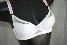 Mimi Holliday Bisou Bisou Candy Balcony Bra UK 34c White & Pink