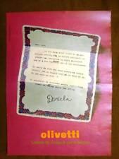 Olivetti Lettera 32 Pubblicità vintage anni '70