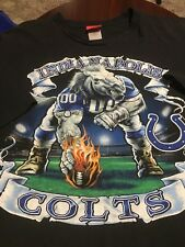 Vintage Indianapolis Colts NFL Giant Player Horse Mens BIG T Shirt 5XL TALL