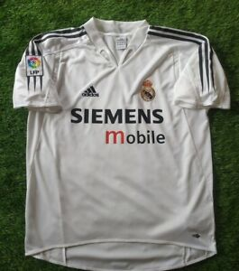 REAL MADRID 2004/2005 MINT NEW  HOME  FOOTBALL SHIRT JERSEY  M SIZE  ADIDAS