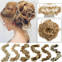 LARGE Messy Bun Hair Piece Wrap On Ponytail Curly Chignon Updo Hair Extension