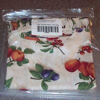 Longaberger Fruit Medley MEDIUM OVAL WASTE Basket Liner ~ Made in USA ~ New!